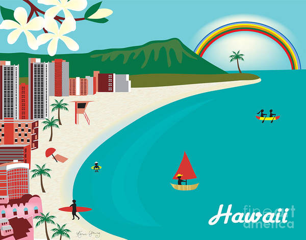 Royal Digital Art - Hawaii by Karen Young