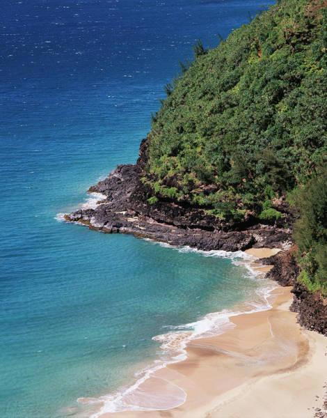 Backcountry Photograph - Hawaii, Kauai, A Beach Along The Na by Christopher Talbot Frank
