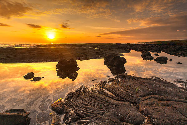 Wall Art - Photograph - Hawaii Lava Tidepools Serenity by Mike Reid