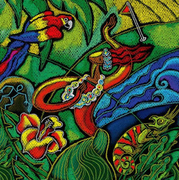 Lizard Painting - Hawaii by Leon Zernitsky