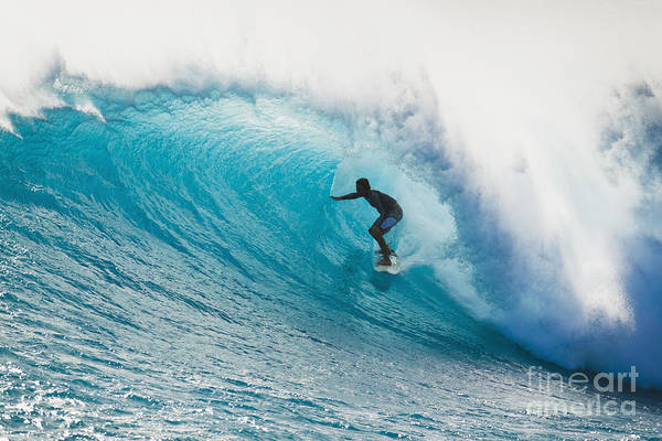 Wall Art - Photograph - Hawaii, Maui, Laperouse, Professional Surfer Albee Layer In The Barrel. by MakenaStockMedia