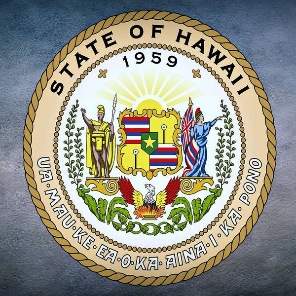 Digital Art - Hawaii State Seal by Movie Poster Prints