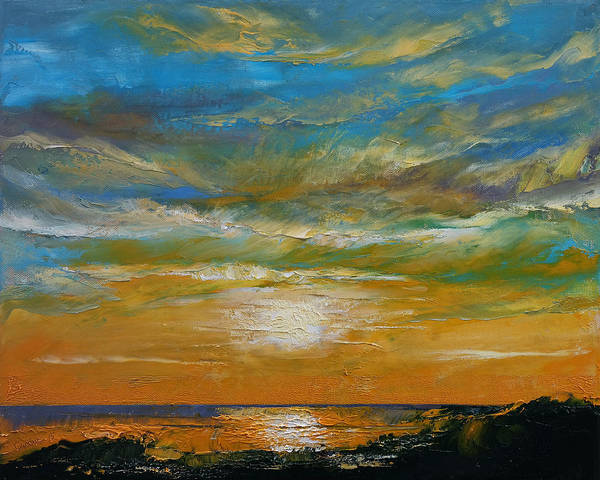 Wall Art - Painting - Hawaii Sunset by Michael Creese