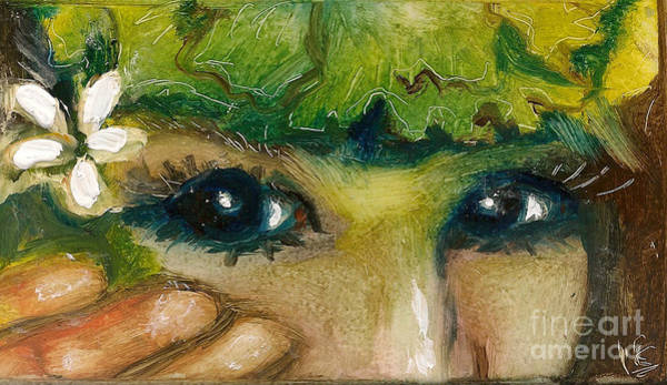 Painting - Hawaiian Eyes by Donna Chaasadah