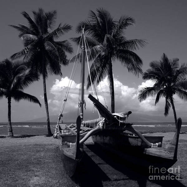 Photograph - Hawaiian Sailing Canoe Maui Hawaii by Sharon Mau