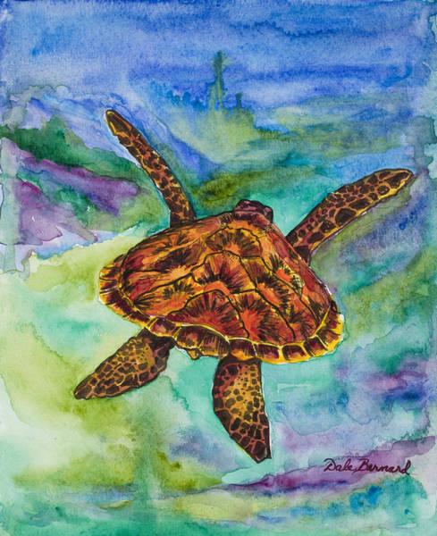 Painting - Hawaiian Sea Turtle by Dale Bernard