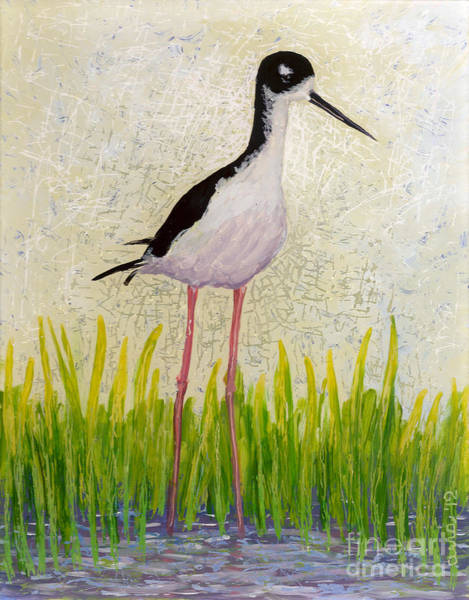 Painting - Hawaiian Stilt by Anna Skaradzinska