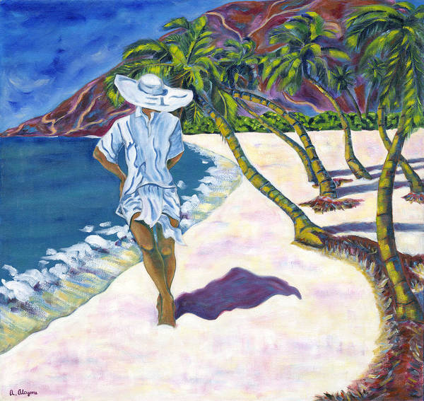 Painting - Hawaiian Stroll by Artimis Alcyone