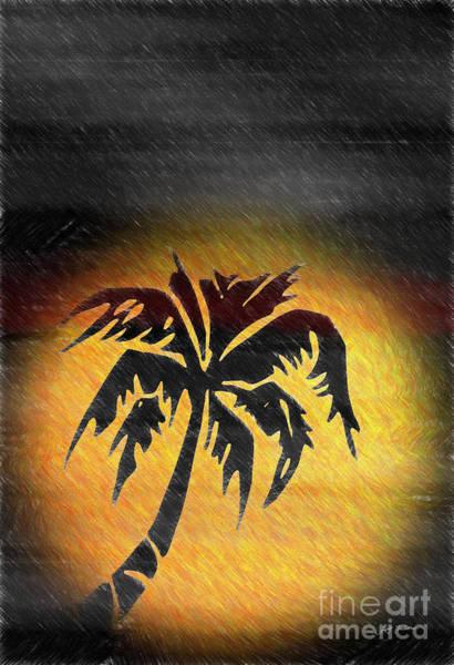 Wall Art - Digital Art - Hawaiian Sunrise And Rain Abstract by Heinz G Mielke