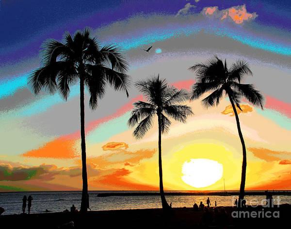 Photograph - Hawaiian Sunset Bird by Larry Oskin
