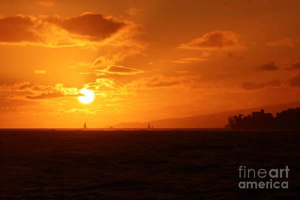 Photograph - Hawaiian Sunset by Mary Mikawoz