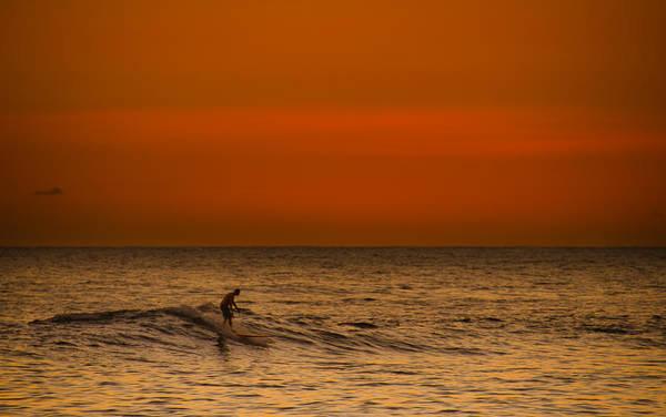 Wall Art - Photograph - Hawaiian Sunset Surfing by Tin Lung Chao