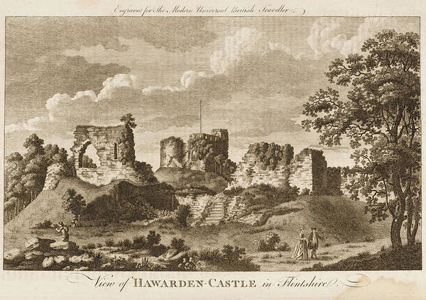 Wales Drawing - Hawarden Castle In Flintshire, Wales by Mary Evans Picture Library