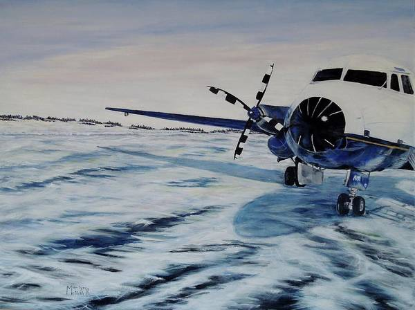 Painting - Hawker - Airplane On Ice by Marilyn  McNish
