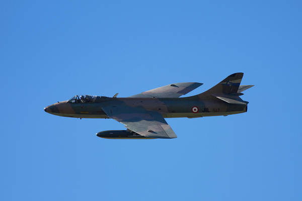 Airshow Photograph - Hawker Hunter Jet Fighter by David Wall