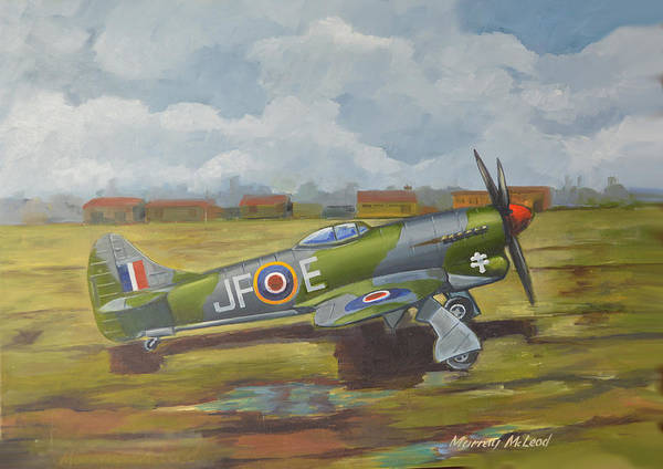 Painting - Hawker Tempest by Murray McLeod