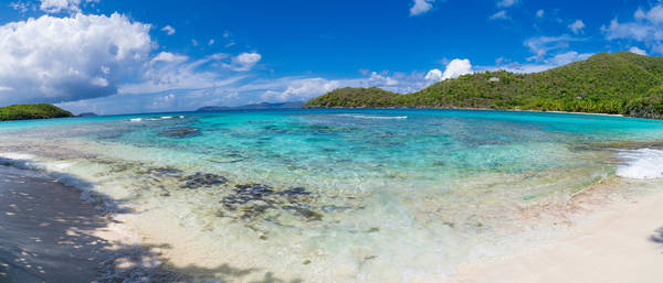 Peacefulness Photograph - Hawksnest Beach, St. John, Us Virgin by Panoramic Images