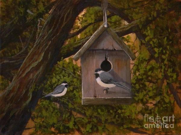 Birdhouse Painting - Hawthorne House by Paul K Hill