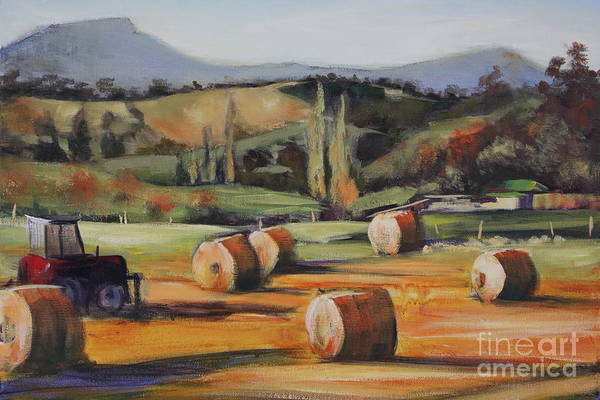 Painting - Hay Bales by Kathy  Karas