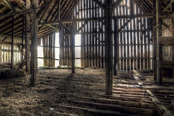 Ceiling Photograph - Hay Loft 2 by Scott Norris