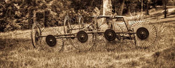 Hay Rake Photograph - Hay Rake In Sepia 1 by Douglas Barnett