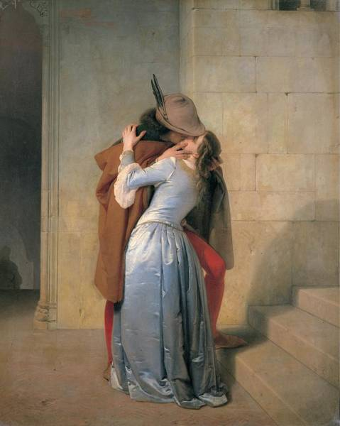 Wall Art - Photograph - Hayez Francesco, The Kiss, 1859, 19th by Everett