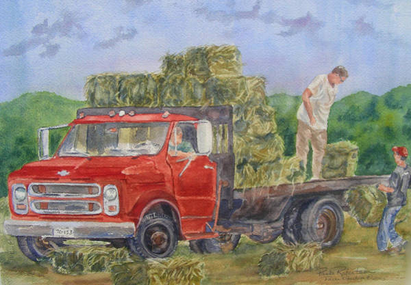 Painting - Haying by Paula Robertson