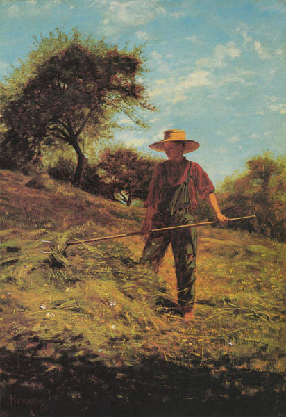 Old Masters Digital Art - Haymaking by Winslow Homer