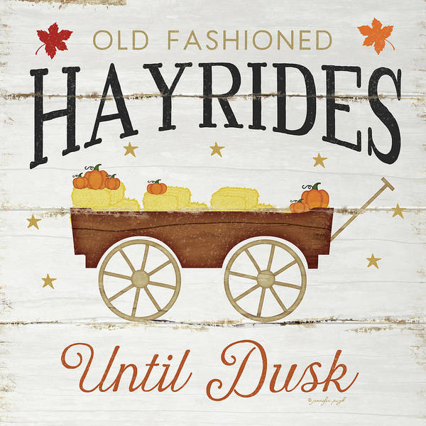 Wall Art - Painting - Hayrides by Jennifer Pugh
