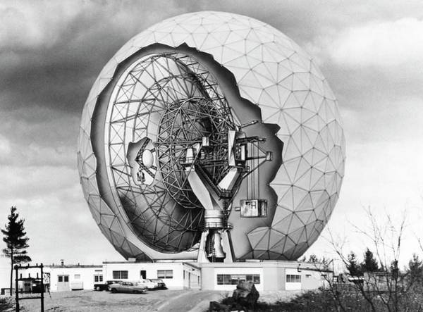 Facilities Photograph - Haystack Microwave Research Facility by Emilio Segre Visual Archives/american Institute Of Physics