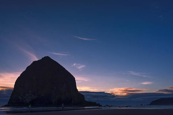 Oregon Wildlife Wall Art - Photograph - Haystack Rock Dusk by Joan Carroll