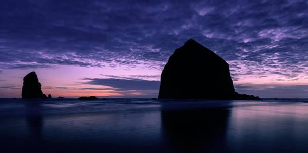 Wall Art - Photograph - Haystack Rock Twilight by Dan Mihai