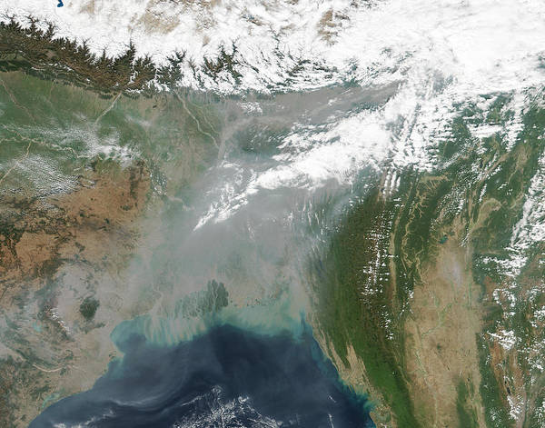 Suomi Photograph - Haze Over Bangladesh by Science Source