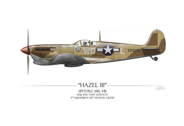 World War 1 Digital Art - Hazel IIi Spitfire Mkv by Craig Tinder