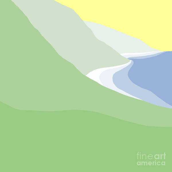 Painting - Hazy Coastline by Henry Manning