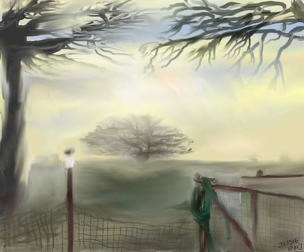 Spout Digital Art - Hazy Day In Texas by Jessica Wright