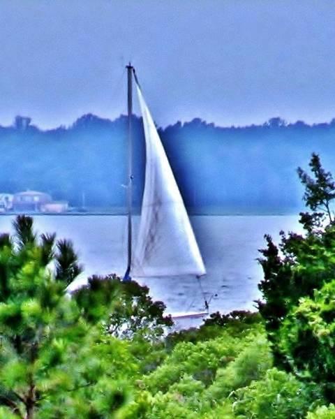 Photograph - Hazy Day Sail by Kim Bemis