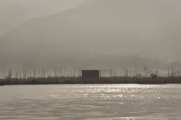 Photograph - Hazy Morning At Inle Lake by Maria Heyens