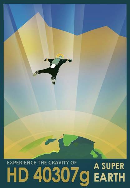 Skydiver Photograph - Hd 40307g Space Tourism Poster by Jpl-caltech/science Photo Library