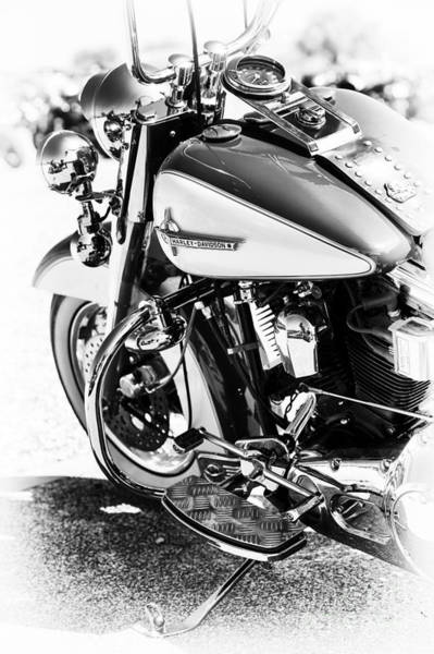 Harley Davidson Black And White Wall Art - Photograph - Hd Monochrome  by Tim Gainey