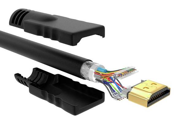 High Definition Photograph - Hdmi Cable by Claus Lunau/science Photo Library