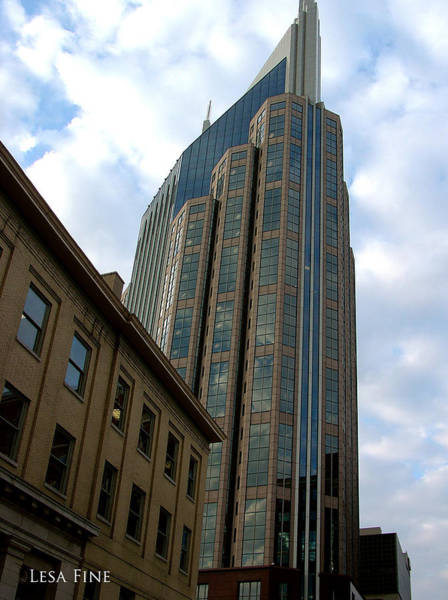 Photograph - Hdr Att Building Aka Batman Building Nashville Tn by Lesa Fine