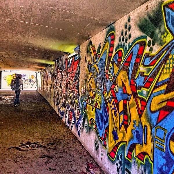 Steampunk Wall Art - Photograph - #hdr #colour #graffiti #steampunk #art by Debby Champion