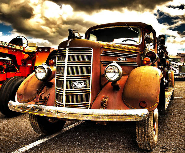 Photograph - Hdr Fire Truck by Jorge Perez - BlueBeardImagery