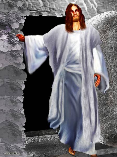 Easter Sunday Digital Art - He Is Alive by Diane Haas