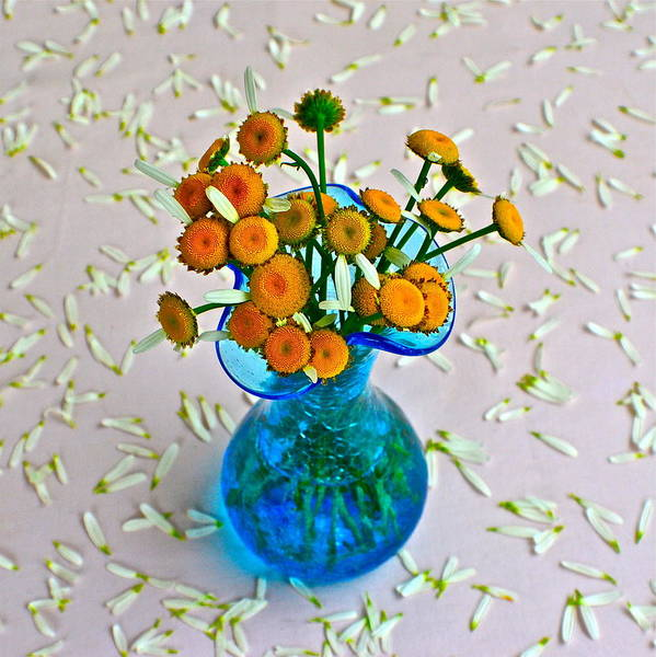 Flowers In A Vase Photograph - He Loves Me Bouquet by Frozen in Time Fine Art Photography