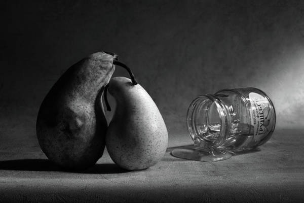 Bottles Photograph - He Won't Come Home. Or pear Jam by Victoria Ivanova