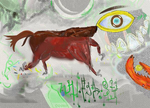 Chela Wall Art - Digital Art - Head-eyed Horse by Pavel Ciapa