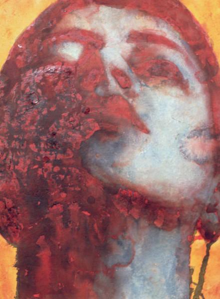 Looking Up Painting - Head by Graham Dean