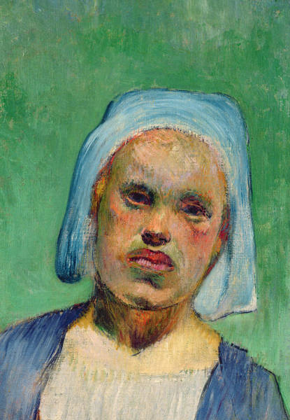 Painting - Head Of A Breton by Paul Gauguin
